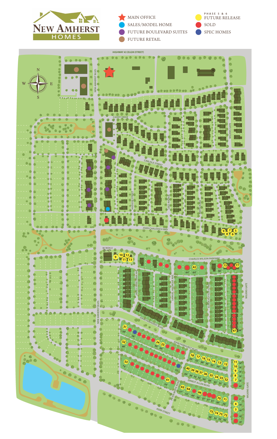 New Amherst Site Plan